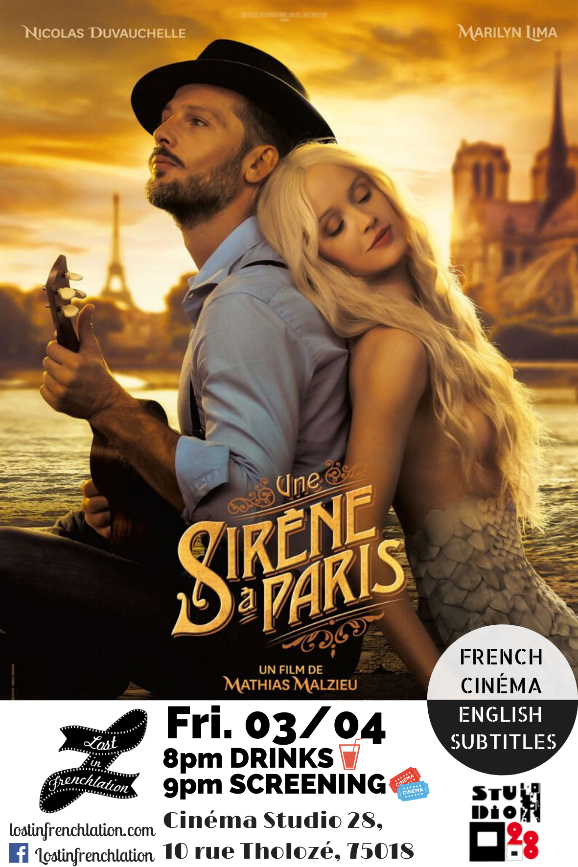 Cancelled Une Sirene A Paris Lost In Frenchlation French Films English Subtitles Paris